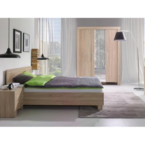Meble CEZAR III łóżko + materac, 2 kolory