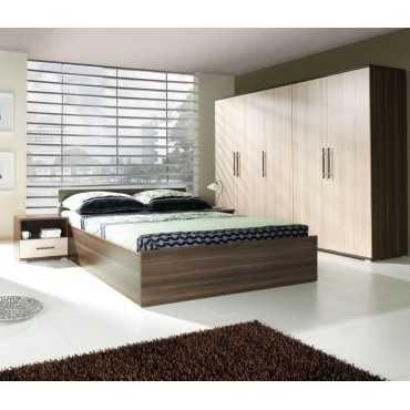 Sypialnia INEZ PLUS szafa, łóżko + gratis materac