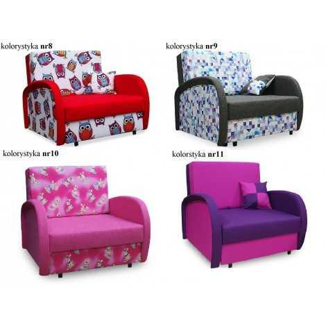 Sofa, fotel rozkładany ZUZIA, amerykanka