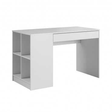 Biurko z półką Antek białe, biały