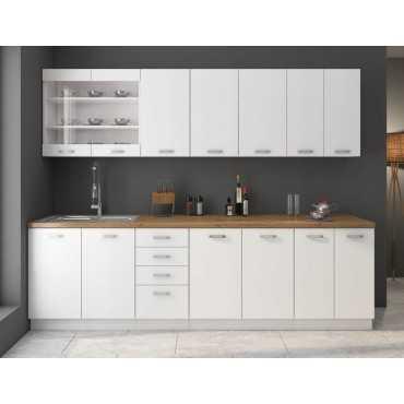 Wysoka szafka kuchenna z półkami 40 Biała WH