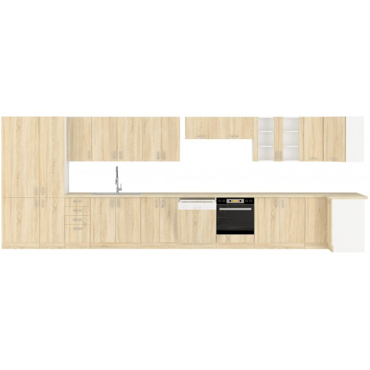 Wysoka szafka kuchenna SARA 40 DK-210 2F sonoma