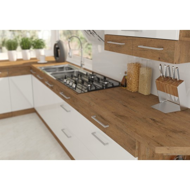 Meble kuchenne VIGO biały połysk, cichy domyk 260cm
