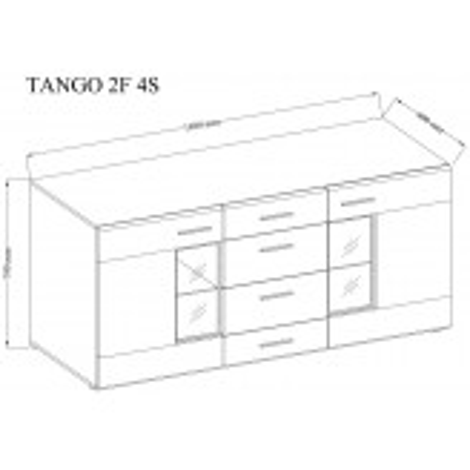 Komoda Tango 3 kolory, opcja LED