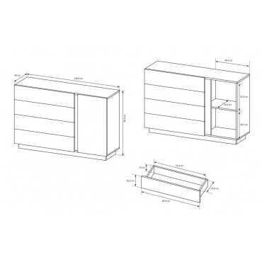 Komoda ARCO D4S szuflady