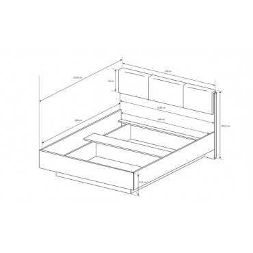 Łóżko 160 ARCO z pojemnikiem artisan