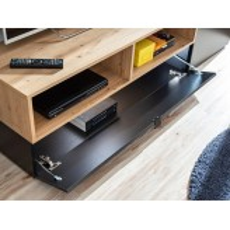 Meblościanka Mini czarny mat / artisan + LED