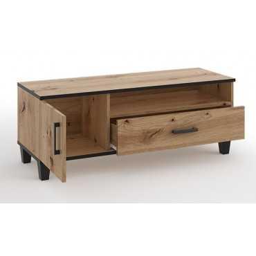 Stolik RTV P7 szuflady 120 cm - dąb artisan