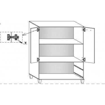 Komoda B3 na nóżkach skandynawska 80cm szuflady