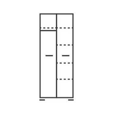 Szafa dwudrzwiowa B7 na nóżkach skandynawska 80cm