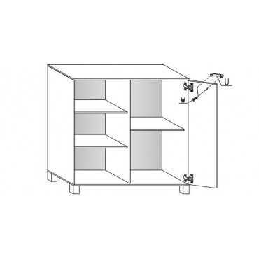 Komoda A4 80 cm półki
