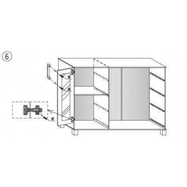 Komoda A5 120 cm półki 4 szuflady