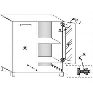 Komoda A8 80 cm półki szuflada