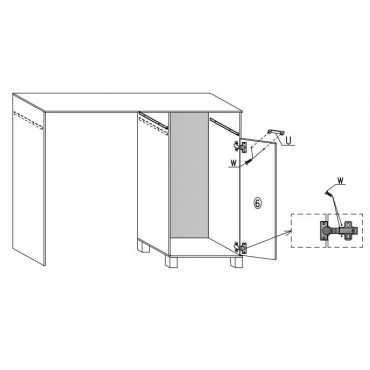 Biurko A9 105 cm półki szuflada