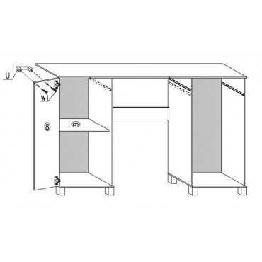 Duże Biurko A10 120 cm półki szuflada