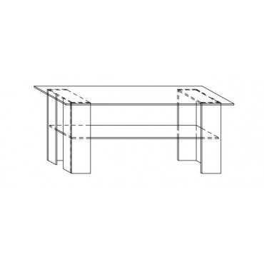 Stolik A17 120 cm z półką