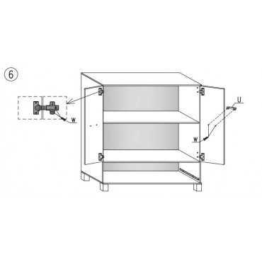 Komoda G3 90 cm półki i szufladą