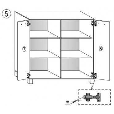 Komoda G6 80 cm z półkami