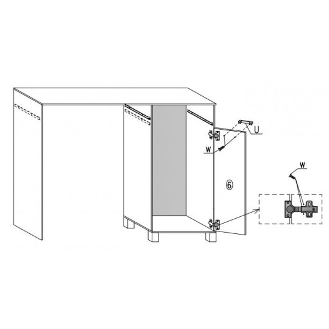 Biurko G13 90 cm z szufladą