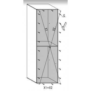 Regał G18 50 cm półki