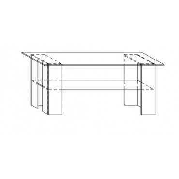 Stolik G27 120 cm z półką