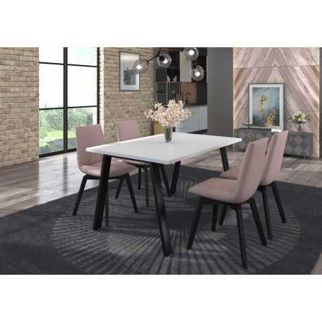 Stół prostokątny 138x90 LEO industrial 3 kolory