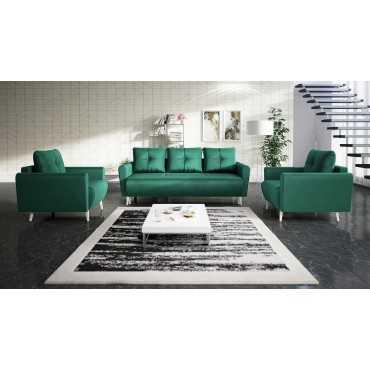 Zestaw MONET, funkcja spania, kanapa + fotele