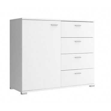 Komoda 100 szuflady + szafka biała